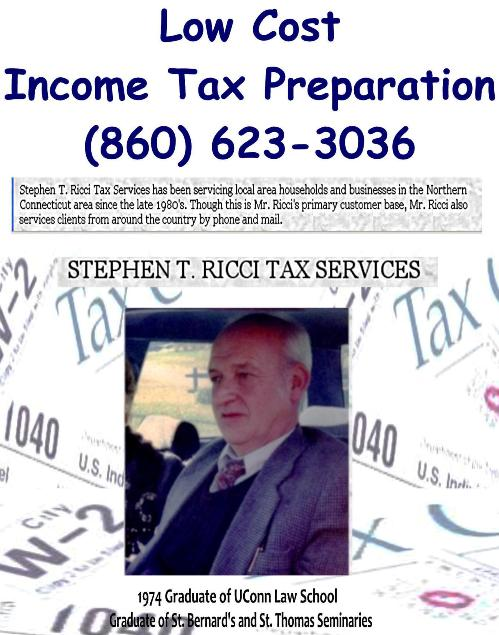 Stephen T. Ricci Tax Services Income Tax Preparation